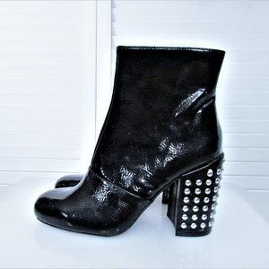 Steve Madden GALLEY faux patent ankle boots 6.5